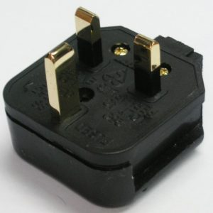 Mains Cables R Us Ref. Gold Mains Plug