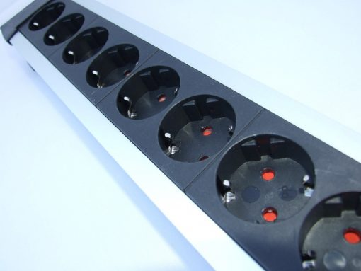 Schuko Mains Power Block Silver Plated