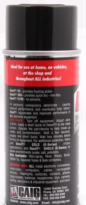 Caig Deoxit D5 Contact Cleaning Spray