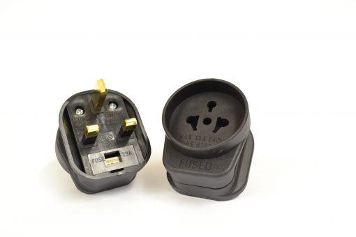 Gold Plated EU/USA Adapter Mains Plug