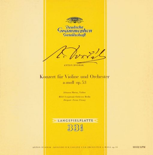 Deutsche Grammophon Anton Dvorak: Concert for Violin and Orchestra