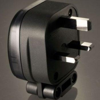 MS HD Power Rhodium Plated Copper UK Mains Plug