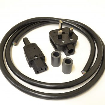 MCRU No. 12 DIY Mains Lead Set Rhodium Plugs