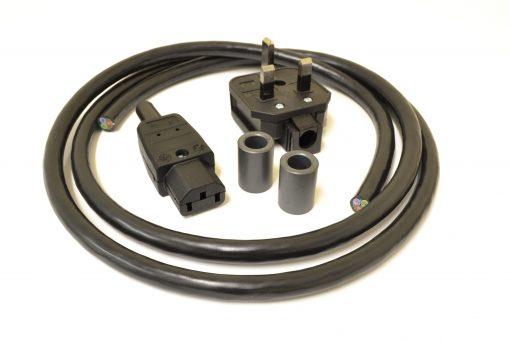 MCRU No. 12 DIY Mains Lead Set Rhodium Plugs